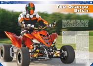 ATV&QUAD Magazin 2012/02, Seite 38-39; Umbau Flat Raptor: The Orange Bitch