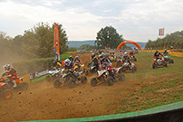 German Cross Country, 4. GCC Lauf 2014 in Goldbach am 19./20. Juli 2014: Start bei den Quads; Bild: Baboons / Rudolf Schuler
