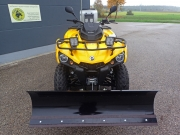 Can-Am Outlander Winter Spezialumbau: 5-fach verstellbares, 1,37 m breites Schneeschild