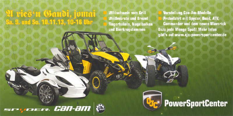 qjc oktoberfest 2013 can am days in br hl atv quad magazin. Black Bedroom Furniture Sets. Home Design Ideas